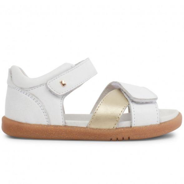 """Sandales I Walk en cuir Sail """"Blanc/Doré"""""""