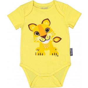 Body bébé manches courtes Mibo Lion en coton bio Coq en Pâte
