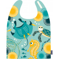 "Grand bavoir en coton bio ""Kids Love the Ocean"" (2-5 ans)"