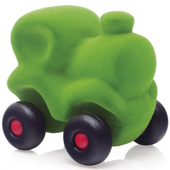 "Locomotive Choo Choo en caoutchouc naturel ""Vert"" (10,5 cm)"