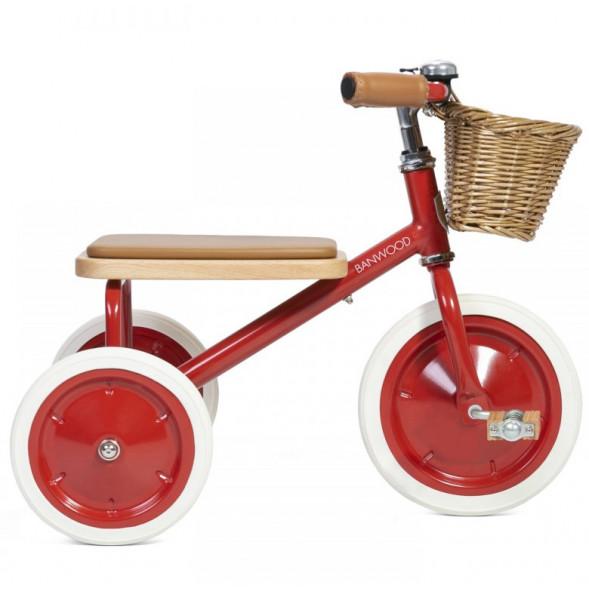 """Tricycle Trike  en acier et bois """"Rouge"""" (2-6 ans)"""