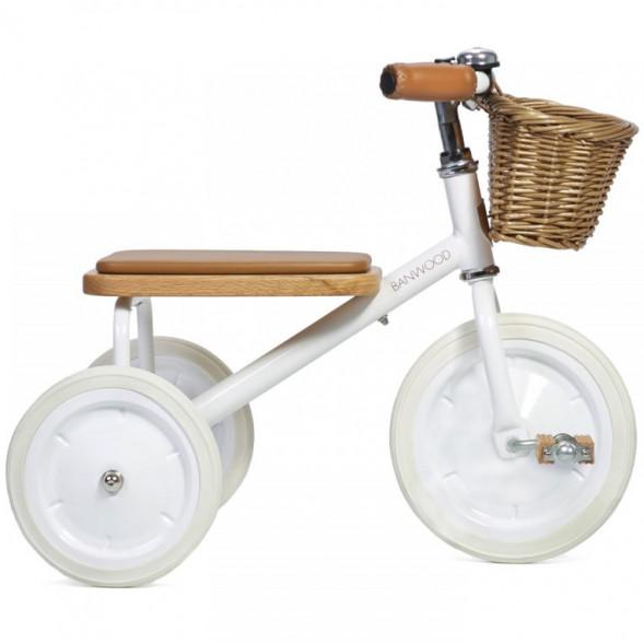 """Tricycle Trike  en acier et bois """"Blanc"""" (2-6 ans)"""