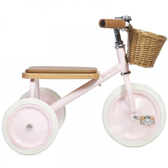 """Tricycle Trike  en acier et bois """"Rose"""" (2-6 ans)"""