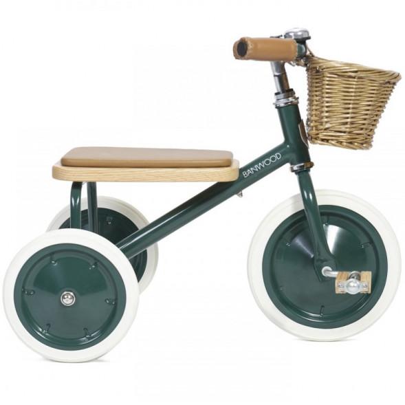 """Tricycle Trike  en acier et bois """"Vert"""" (2-6 ans)"""