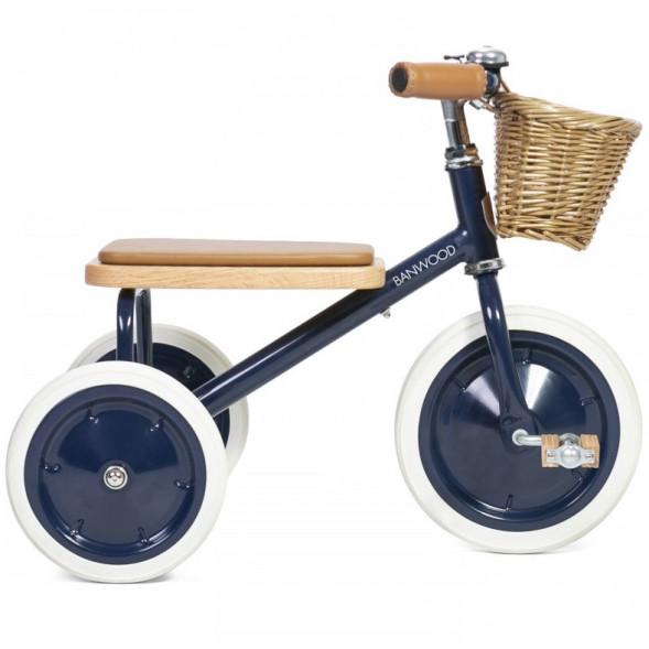 """Tricycle Trike  en acier et bois """"Bleu Navy"""" (2-6 ans)"""