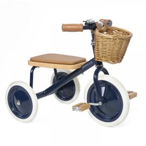 """Tricycle enfant Trike en acier et bois """"Bleu Navy"""" Banwood"""