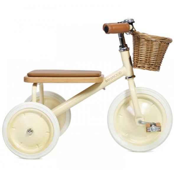 """Tricycle Trike  en acier et bois """"Crème"""" (2-6 ans)"""