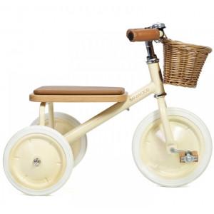 """Tricycle enfant Trike en acier et bois """"Crème"""" Banwood"""