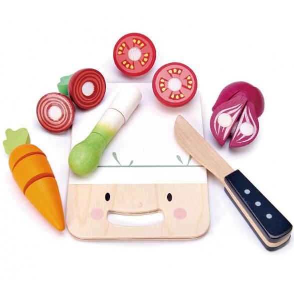 """Planche à découper """"Mini Chef"""" en bois (3 ans et +)"""