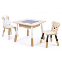 """Table et chaises en bois """"Forêt"""" (3 ans et +)"""