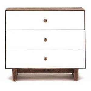 Commode merlin 3 tiroirs - blanc - oeuf nyc -