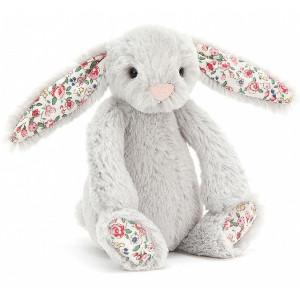 "Peluche Bashful Lapin ""Argent Blossom"" (13 cm) Jellycat"