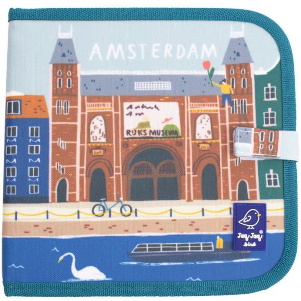 """Cahier ardoise à coloriage et dessins + 4 craies Butterstix """"City Amsterdam"""""""