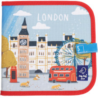 "Cahier ardoise à coloriage et dessins + 4 craies Butterstix ""London"" Jaq jaq Bird"