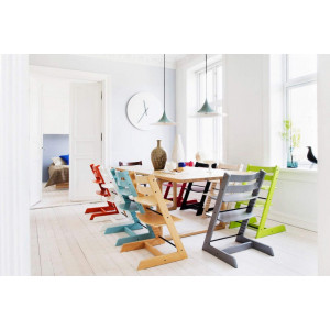 Offre STokke : Chaise Tripp Trapp + Kit Baby Set + Coussin (au choix) - Blanc