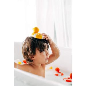 """Canard de bain Flo Bouée en hevea """"Vintage Jaune"""" Oli & Carol"""
