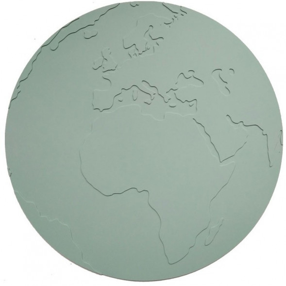 "Set de table anti-dérapant en silicone Mappemonde ""Gris Vert"""
