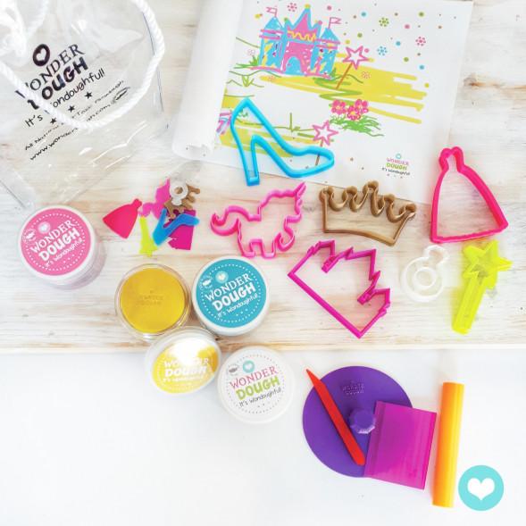 "Kit de pâte à modeler 100% naturelle ""Princesses"" (grand)"