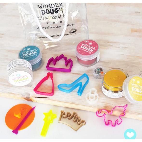 """Kit de pâte à modeler 100% naturelle """"Princesses"""" (mini)"""
