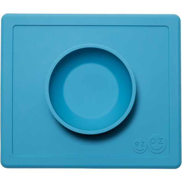 "Bol anti-dérapant en silicone Happy Bowl ""Bleu"""