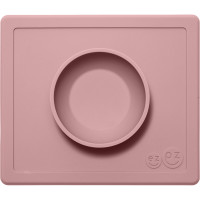 "Bol anti-dérapant en silicone Happy Bowl ""Rose Poudré"""