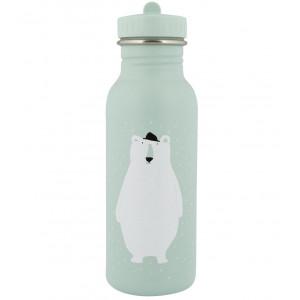 "Gourde enfant en inox (500 ml) ""Mr Ours Polaire"" Trixie Baby"