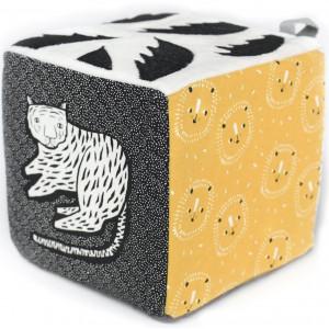 """Cube d'éveil bébé en coton bio """"Jungle"""" Wee Gallery"""
