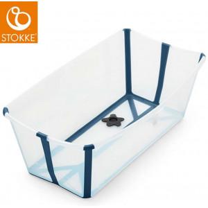 """Baignoire bébé pliable Flexi Bath """"Blanc/Bleu"""" Stokke"""