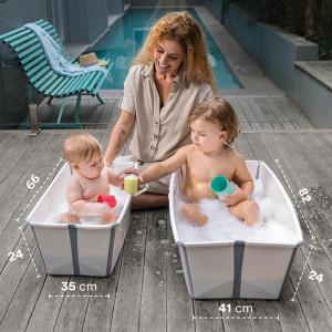 """Baignoire bébé pliable Flexi Bath  X-Large """"Blanc"""" Stokke"""