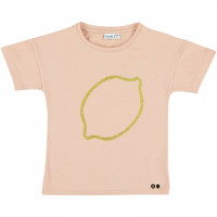 "T-shirt fille manches courtes en coton bio ""Lemon Squash"" Trixie Baby"