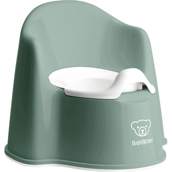 "Pot de toilette Fauteuil ""Vert Profond"""
