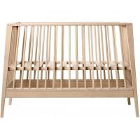 Lit bébé évolutif 60x120 Linea en bois de hêtre naturel