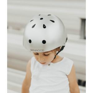 Casque enfant pour draisienne et vélo Matte Chrome - Banwood -
