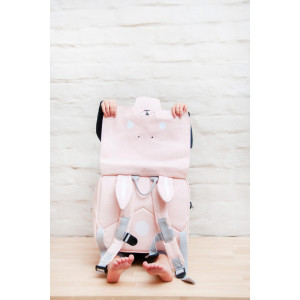 """Cartable enfant maternelle en coton imperméable """"Mrs Lapin"""" Trixie Baby"""