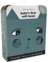 """Livre bébé d'éveil en coton bio """"Animaux du jardin"""" Wee Gallery"""
