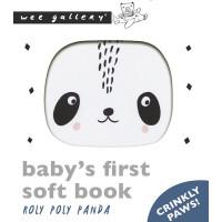 """Livre d'éveil en coton bio """"Roly Poly Panda"""""""