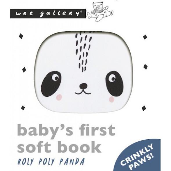 """Livre d'éveil tissu en coton bio """"Roly Poly Panda"""""""
