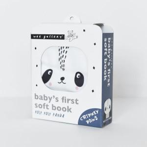 """Livre bébé d'éveil en tissu coton bio """"Roly Poly Panda"""" Wee Gallery"""