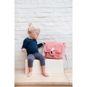 """Cartable enfant fille maternelle en coton imperméable """"Mrs Flamingo"""" Trixie Baby"""