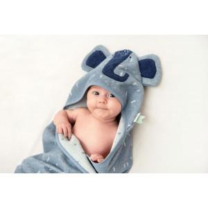 """Cape de bain bébé en coton bio """"Mrs Elephant"""" Trixie Baby"""