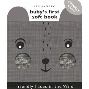 """Livre bébé d'éveil en coton bio """"Animaux de la nature"""" Wee Gallery"""