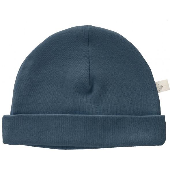 """Bonnet naissance en coton bio """"Bleu Indigo"""" (0-3 mois)"""