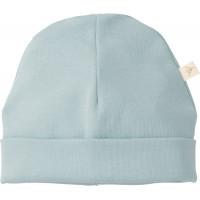 """Bonnet bébé naissance en coton bio """"Bleu poudré"""" Fresk"""