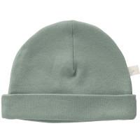 "Bonnet naissance en coton bio ""Dusty Green"" (0-3 mois)"