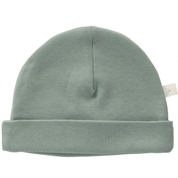 """Bonnet bébé naissance en coton bio """"Dusty Green"""" Fresk"""
