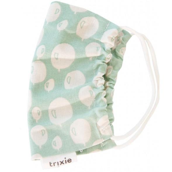 """Masque de protection lavable Enfant en coton biologique """"Balloon Turquoise"""""""