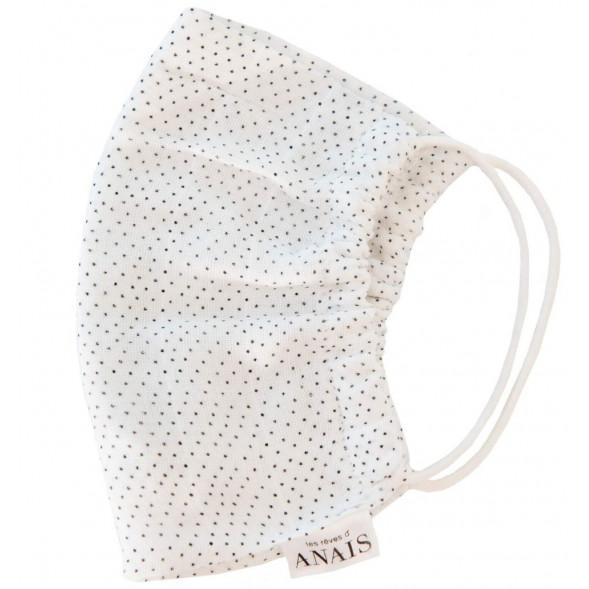 """Masque de protection lavable Adulte en coton tetra """"Dots"""" OUTLET"""