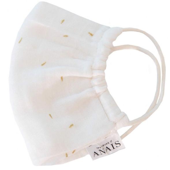 """Masque de protection lavable Adulte en coton tetra """"Gold Blossom"""""""