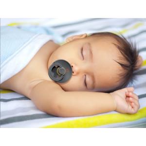 """Tétines bébé Bibs en caoutchouc naturel naissance (0-6 mois) """"Gris Nuage"""" (x2)"""
