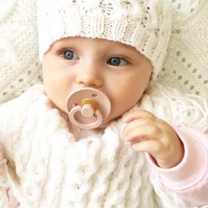 """Tétines bébé Bibs en caoutchouc naturel naissance (0-6 mois) """"Rose poudré"""" (x2)"""